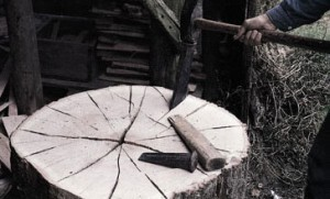 Stammene flækkes med kiler