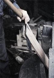 Kløves med spånkniv
